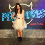 Carmen Muñoz del programa Pecadores - vestido blanco