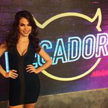 Carmen Muñoz del programa Pecadores - vestido negro