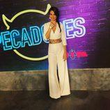 Carmen Muñoz del programa Pecadores - vestido pantalón