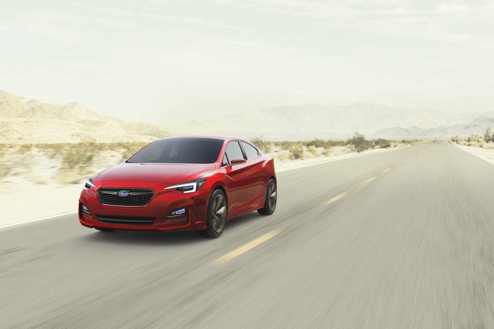 Subaru Impreza sedán - carretera