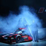 Audi R18 LMP1 mitad descubierta