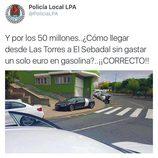 Policía local Las Palmas tweets - Audi R8