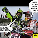 Memes MotoGP 2015 - Perdone, ¿la recta de Assen?