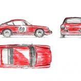 Car Bone Flat Six Design - bocetos
