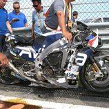Moto Loris Baz destrozada