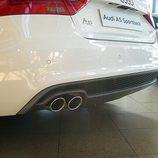 Audi A5 Sportback: Detalle difusor trasero