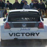 El Volkswagen Polo de Marklund por detrás
