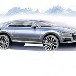 Boceto Audi Allroad Concept, lateral