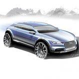 Boceto Audi Allroad Concept, lateral tres cuartos
