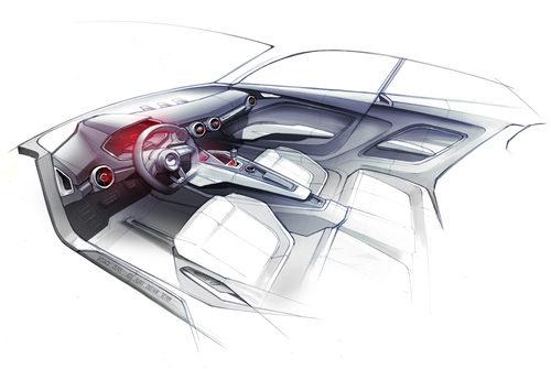 Boceto Audi Allroad Concept, habitáculo