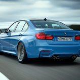 BMW M3: Detalle trasera