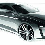 Audi Quattro concept 2010, boceto