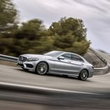 Mercedes-Benz Clase-C 2014, silver, lateral
