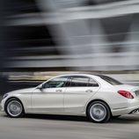 Mercedes-Benz Clase-C 2014, artículo, movimiento, tres cuartos trasero