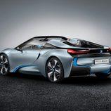 BMW i8 spyder concept 2012, estudio, tres cuartos trasera