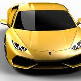 Lamborghini Huracán LP610-4, amarillo aereo frontal