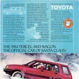 Anuncio temática navideña Toyota