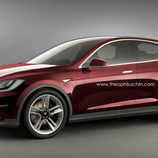 Tesla Motors Model 3 render - front