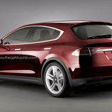 Tesla Motors Model 3 render - back