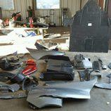 Porsche 918 Spyder accidente - piezas sueltas