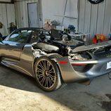 Porsche 918 Spyder accidente - back