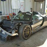 Porsche 918 Spyder accidente - trasera