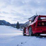 Red Bull Snow Camp - Ferrari F40 rear