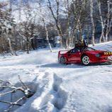 Red Bull Snow Camp - Ferrari F40 lateral