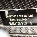 Benetton Ford B191 1991-1992 - placa