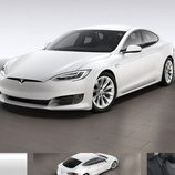 Tesla Model S 2017 filtración - frontal