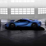 Ford GT 2017 azul liquid - side