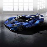 Ford GT 2017 azul liquid - frontal