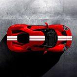 Ford GT 2017 rojo liquid - aerial