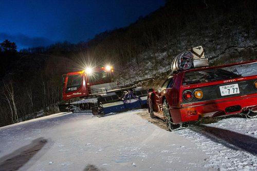 Red Bull Snow Camp Behind the scenes - Ferrari F40
