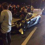 Lateral del McLaren accidentado