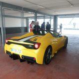Vista trasera del Ferrari 458 Speciale Aperta