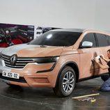 Maqueta de arcilla del Renault Koleos
