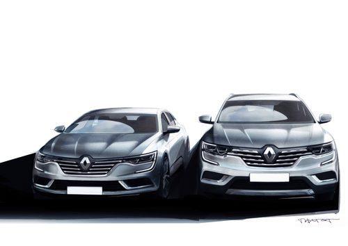 Dos bocetos del Renault Koleos 2016