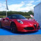 La delantera del Alfa Romeo 4C Spider