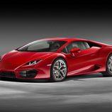 Frontal rojo del Lamborghini Huracan V10 Avio