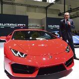 Sección delantera del nuevo Lamborghini 2016