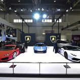 Unidad de color rojo del Lamborghini Huracan 2016