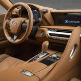 Interior de cuero del nuevo Lexus 2016