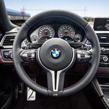 Volante de cuero negro del BMW M4 Cs