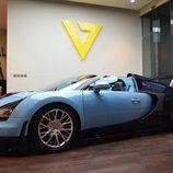 Carrocería bicolor del Veyron Wimille Edition