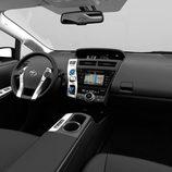 Interior de tela del Toyota Prius+ 2016