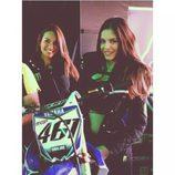 Monster Girl Marta Aranda con la Yamaha de Romain Febvre