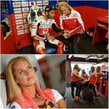 Paddock Girls del GP de Gran Bretaña 2016 - collage Tatana Sediva