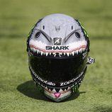 El casco tiburón de Jorge Lorenzo - Frontal