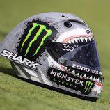 El casco tiburón de Jorge Lorenzo - Lateral derecho